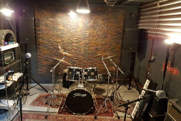 Das Musikstudio.