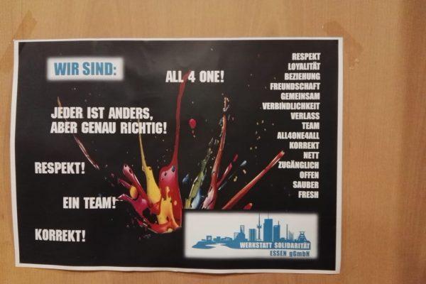 Plakat der Werkstatt Solidarität.
