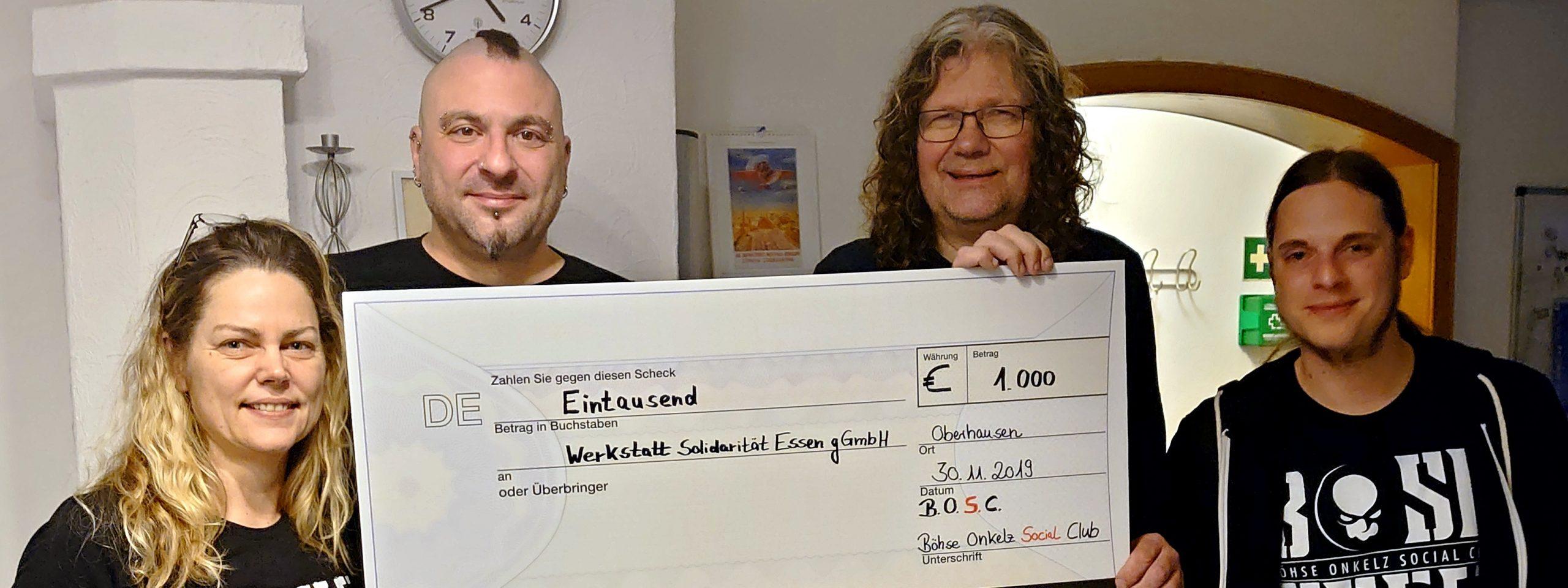 Spende für die Werkstatt Solidarität in Essen